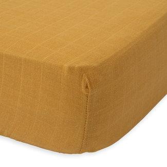 Little Unicorn Little Unicorn - Cotton Muslin Crib Sheet, Mustard