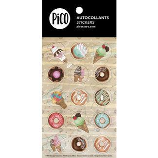 Pico Tatouages Temporaires Pico Tatoo - Stickers, Ice Cream Cones and Donuts