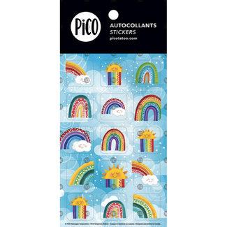 Pico Tatouages Temporaires Pico Tatoo - Stickers, Colorful Rainbows