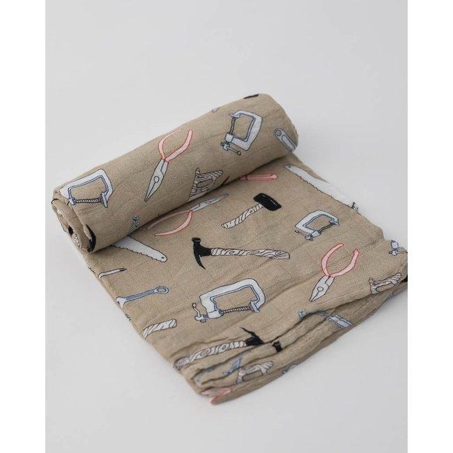 Little Unicorn Little Unicorn - Single Deluxe Muslin Blanket, Work Bench