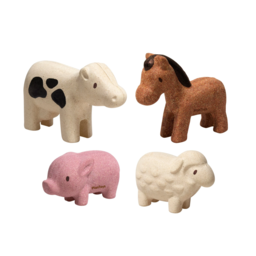Plan toys Plan Toys - Wooden Farm Animals Set