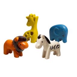 Plan toys Plan Toys - Wooden Wild Animals Set