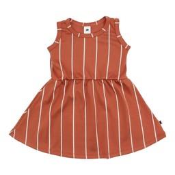 Little & Lively Little & Lively - Dress, Papaya Stripe