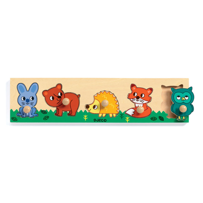 Djeco Djeco - Wooden Puzzle, Forest'n'co