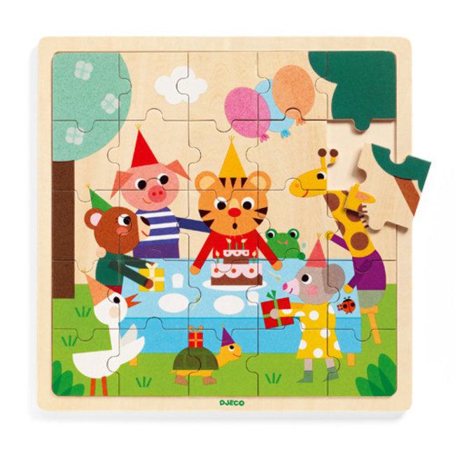 Djeco Djeco - Wooden Puzzle, Puzzlo Happy