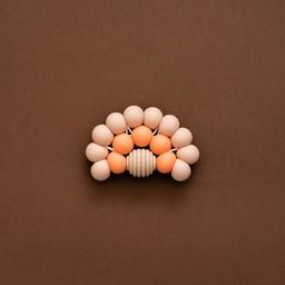 Minika Minika - Rainbow Teether, Blush and Cantaloupe