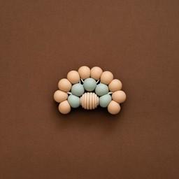 Minika Minika - Rainbow Teether, Natural and Sage