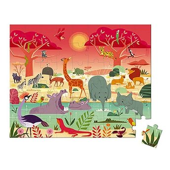 Janod Janod - 54 Pieces Puzzle, Animal Reserve