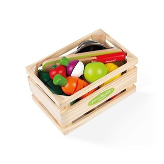 Janod Janod - Green Market Fruits and Vegetables Maxi Set