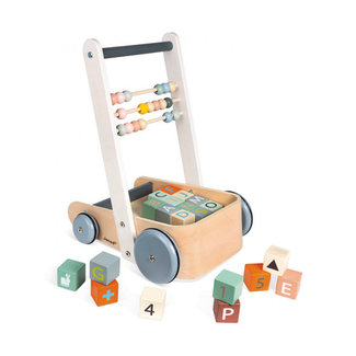 Janod Janod - Cart with ABC Blocks