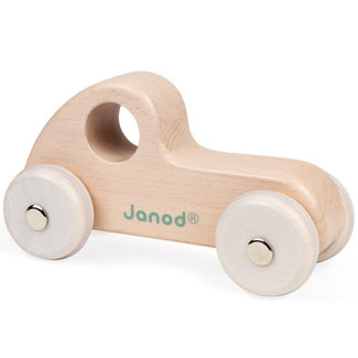 Janod Janod - Wooden Race Car, Natural