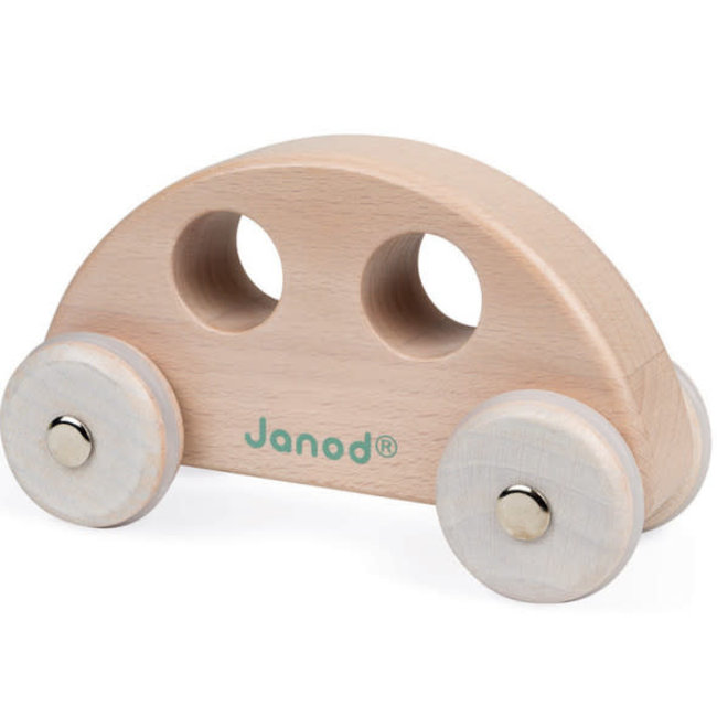 Janod Janod - Wooden Car, Natural