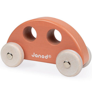 Janod Janod - Wooden Car, Orange