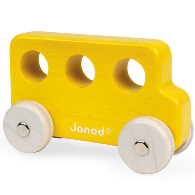 Janod Janod - Wooden Bus, Yellow