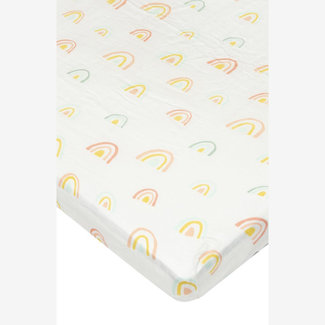 Loulou Lollipop Loulou Lollipop - Bamboo Fitted Crib Sheet, Rainbow Pastel
