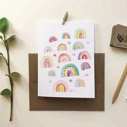 Katrinn Pelletier Illustration Katrinn Pelletier - Greeting Card, Rainbows