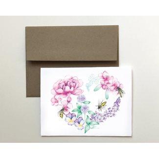 Katrinn Pelletier Illustration Katrinn Pelletier - Greeting Card, Floral Heart