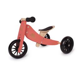 Kinderfeets Kinderfeets - Tiny Tot Balance Bike 2-in-1, Coral