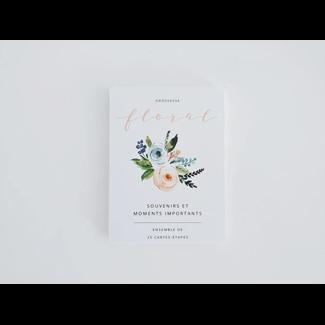 Moments ancrés Moments Ancrés - Cartes-étapes Ma Grossesse, Floral