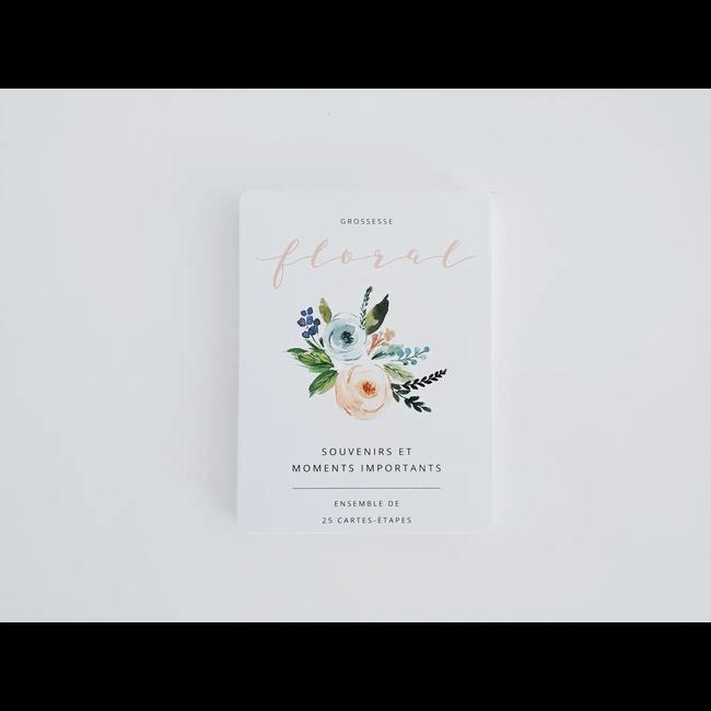 Moments ancrés Moments Ancrés - Stage Cards My Pregnancy, Floral