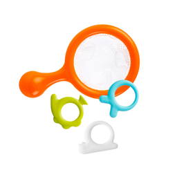 Boon Boon - Water Bugs Floating Bath Toys with Net, Orange