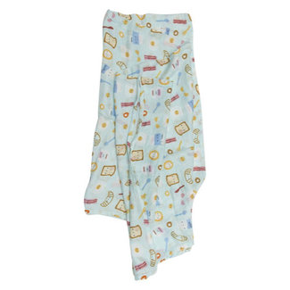 Loulou Lollipop Loulou Lollipop - Bamboo Swaddle, Breakfast Blue