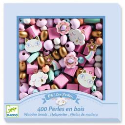 Djeco Djeco - Perles de Bois pour Bijoux, Arc-en-ciel