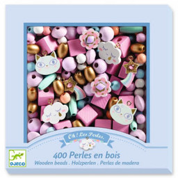 Djeco Djeco - Wooden Beads for Jewelry, Rainbow