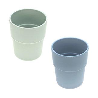 Lässig Lässig - Set of 2 Bamboo Mugs for Baby, Mint/Blueberry