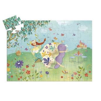 Djeco Djeco - Silhouette Puzzle, Princess of Spring