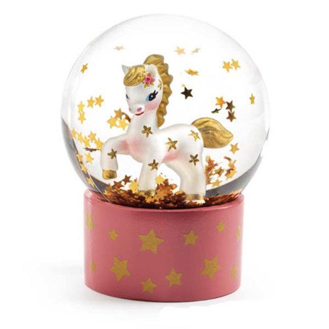 Djeco Djeco - Mini Boule à Neige So Cute, Poney
