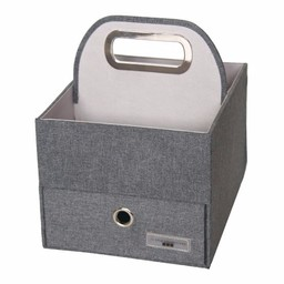 JJ Cole JJ Cole - Panier pour Couches et Lingettes/Diapers and Wipes Caddy, Ardoise/Slate