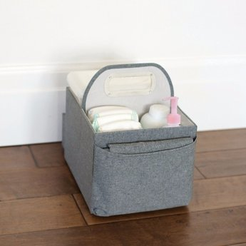 JJ Cole Panier pour Couches et Lingettes de JJ Cole/JJ Cole Diapers and Wipes Caddy, Couleur Ardoise/Slate
