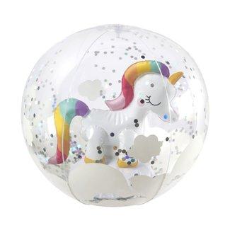 Sunny Life SunnyLife - 3D Inflatable Beach Ball, Unicorn