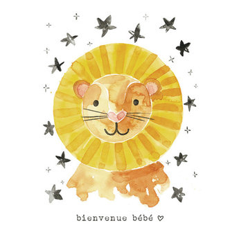 Stéphanie Renière - Greeting Card, Lambert the Lion