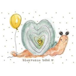 Stéphanie Renière - Greeting Card, Estelle the Snail