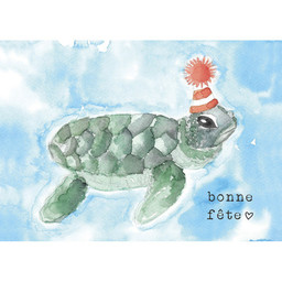 Stéphanie Renière - Greeting Card, Telma the Turtle