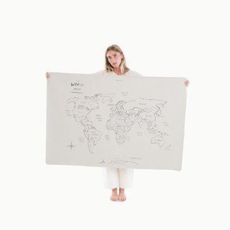 Gathre Gathre - Mini Multifunctional Vegan Leather Mat, World Map
