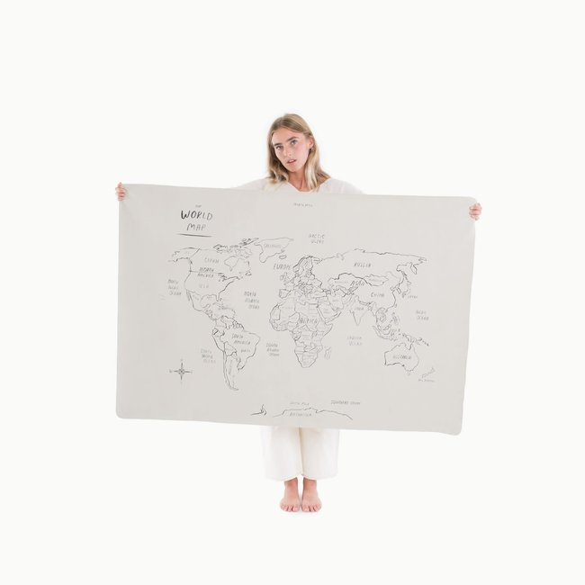Gathre Gathre - Mini+ Multifunctional Leather Mat, World Map