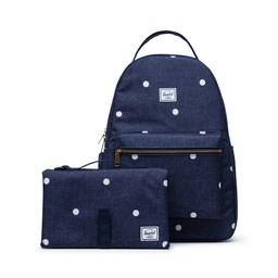 Herschel Herschel - Settlement Sprout Diaper Backpack, Polka Dot Peacoat