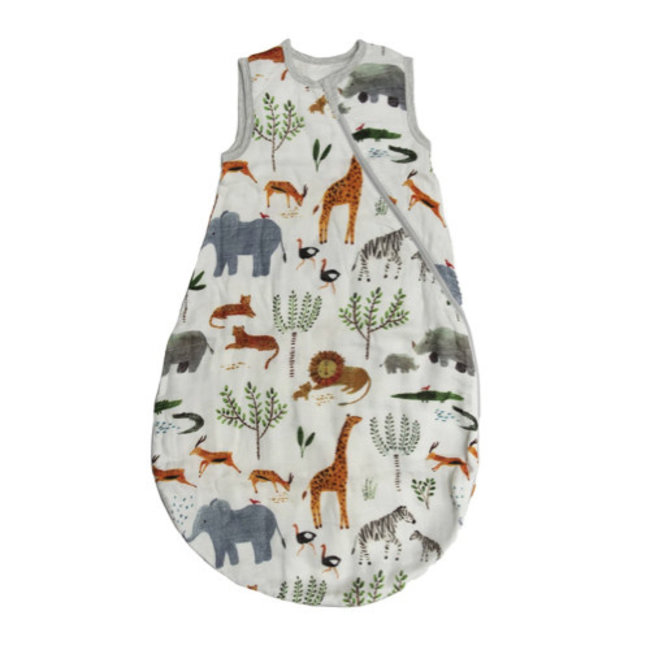 Loulou Lollipop Loulou Lollipop - Bamboo Muslin Sleep Bag, Safari Jungle