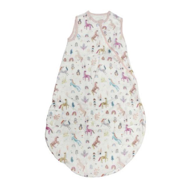 Loulou Lollipop Loulou Lollipop - Bamboo Muslin Sleep Bag, Unicorn Dream