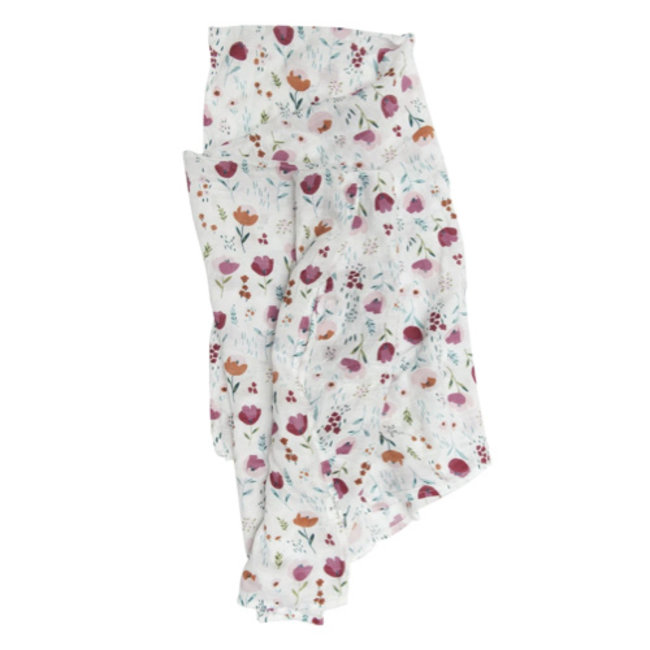 Loulou Lollipop Loulou Lollipop - Bamboo Swaddle, Rosey Bloom