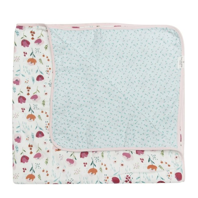 Loulou Lollipop Loulou Lollipop - Bamboo Muslin Quilt, Rosey Bloom