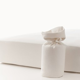Bouton Jaune Bouton Jaune - Organic Cotton Fitted Sheet, Natural