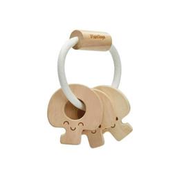 Plan toys Plan Toys - Baby Key Wooden Rattle, Natural