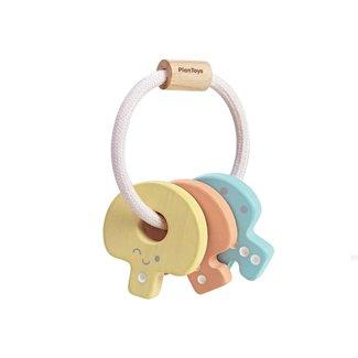 Plan toys Plan Toys - Baby Key Wooden Rattle, Pastel