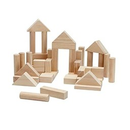 Plan toys Plan Toys - 40 Unit Blocks, Natural