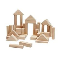 Plan toys Plan Toys - Ensemble de Construction 40 Morceaux, Naturel