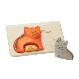 Plan toys Plan Toys - Wooden Puzzle, Cat